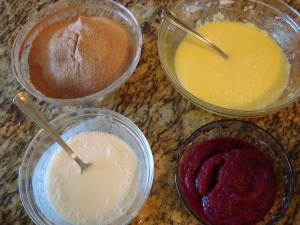 Ingredients for Red Velvet Beet Cupcakes Ready for Mixing!