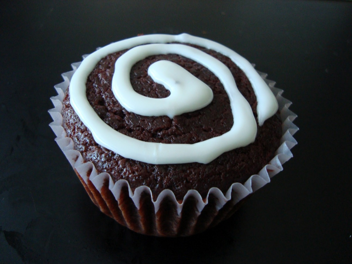 Red Velvet Beet Cupcake with Icing