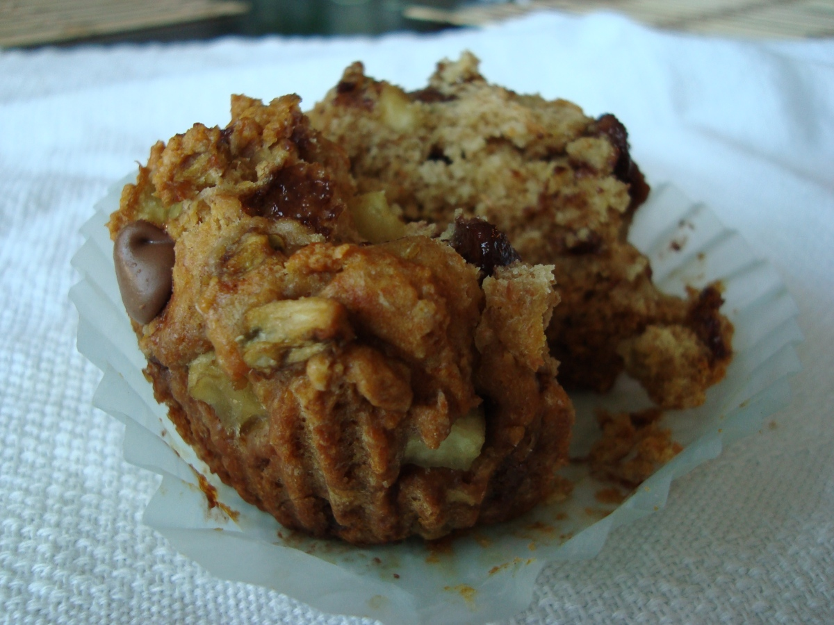 Eggplant Chocolate Chip Muffins