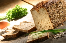 healthy bread on table