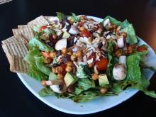 A beautiful vegan salad