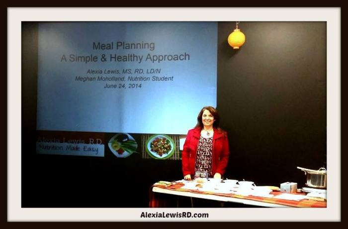 Meal Planning Presentation and Cooking Demonstration